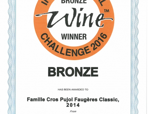 Nos Cuvées Lauréates 2016 – International Wine Challenge